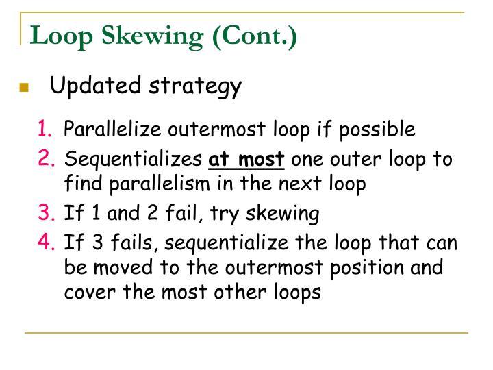 Loop Skewing (Cont.)