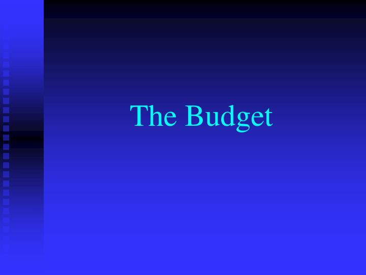the budget n.