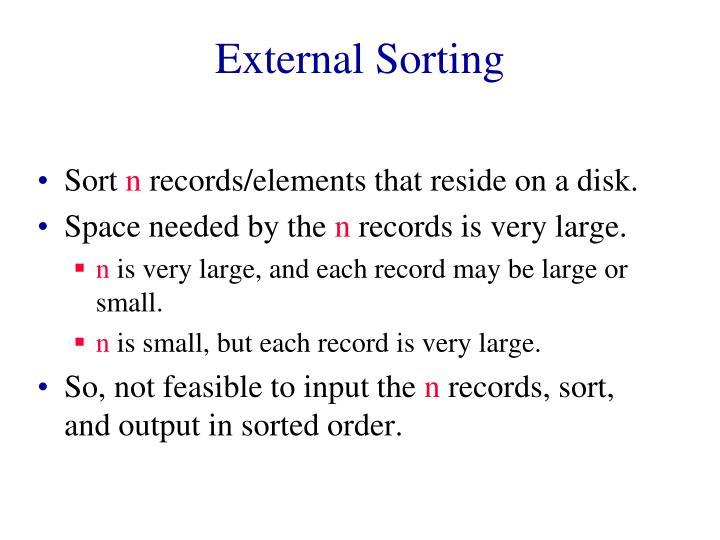 external sorting n.