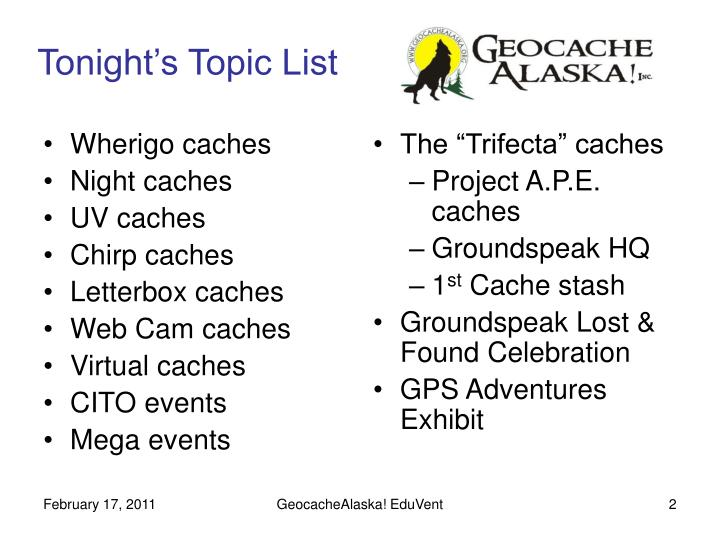 Wherigo caches
