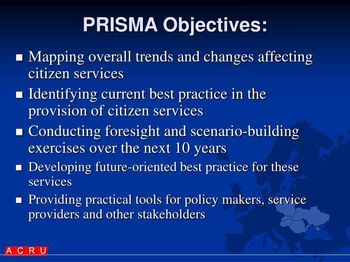 PRISMA Objectives: