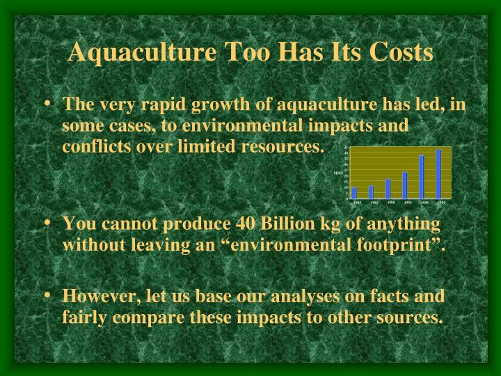 Aquaculture Too Has Its Costs