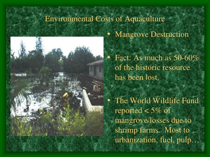 Environmental Costs of Aquaculture