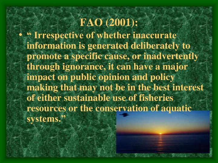 FAO (2001):