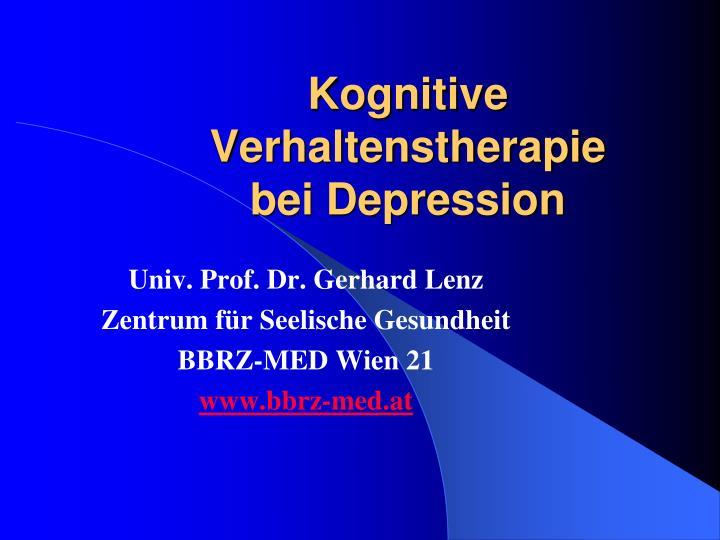 PPT - Kognitive Verhaltenstherapie bei Depression PowerPoint ...