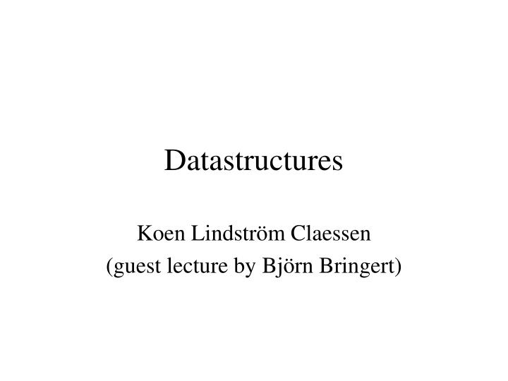 datastructures n.