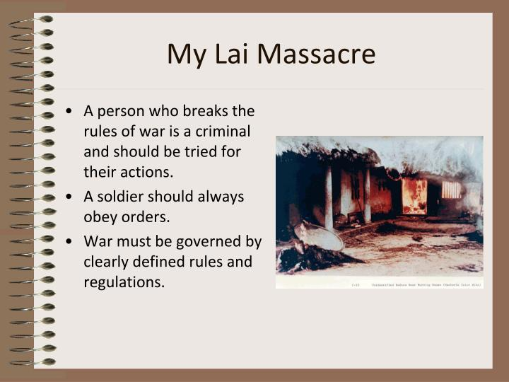 my lai the great massacre essay The my lai massacre: a study of the event, aftermath, and implications , by michael c howard a senior thesis m general studies submitted to the general studies council.