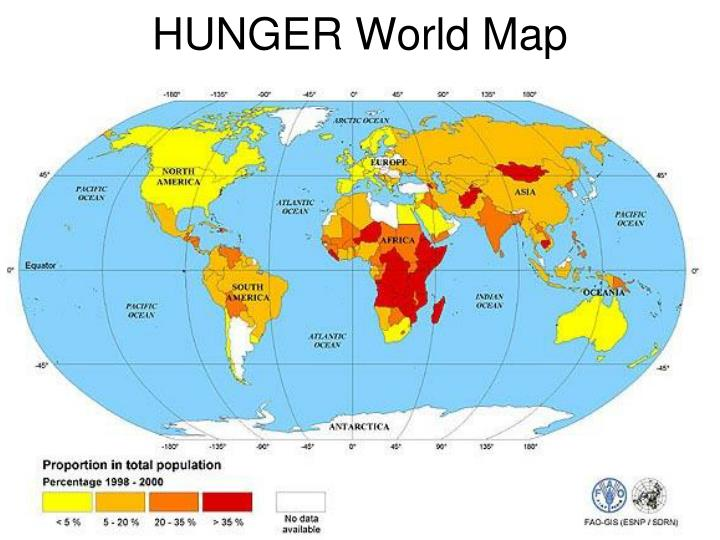 Hunger world map