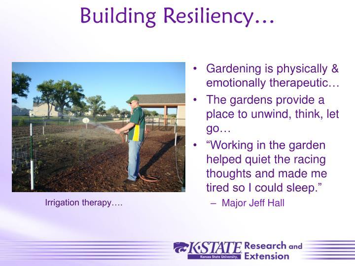 Building Resiliency…