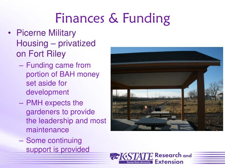 Finances & Funding