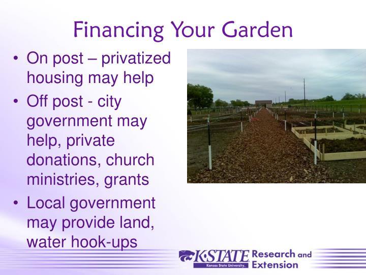 Financing Your Garden