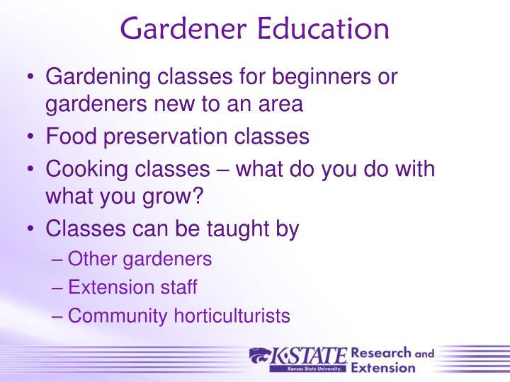 Gardener Education