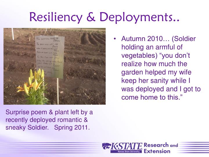 Resiliency & Deployments..
