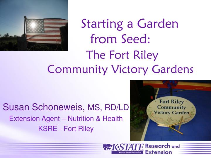 Starting a garden from seed the fort riley community victory gardens