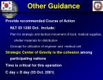 other guidance
