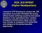 rok jcs intent higher headquarters
