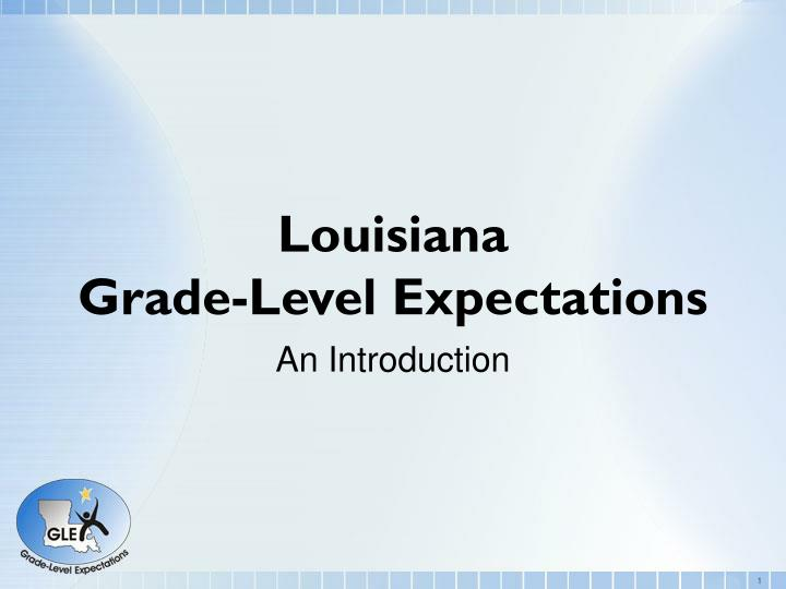 louisiana grade level expectations n.