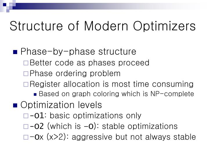 Structure of Modern Optimizers