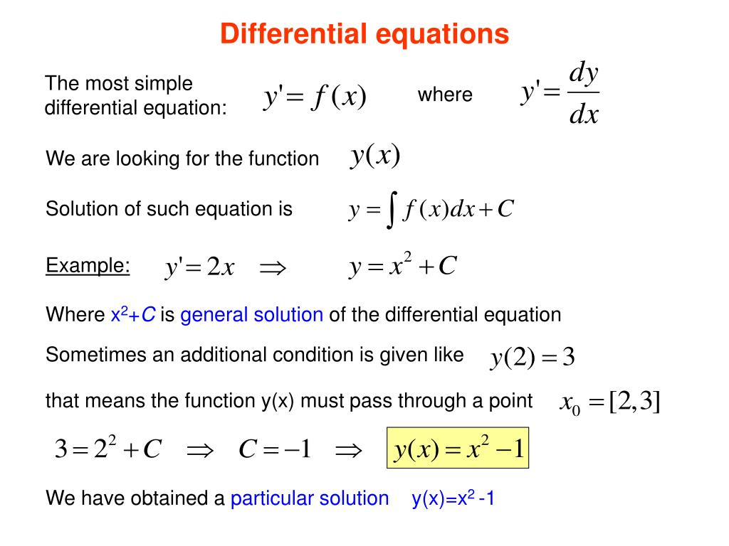PPT - Lecture 2 Differential equations PowerPoint