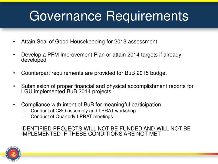 Governance Requirements