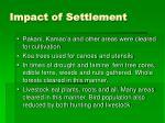 impact of settlement