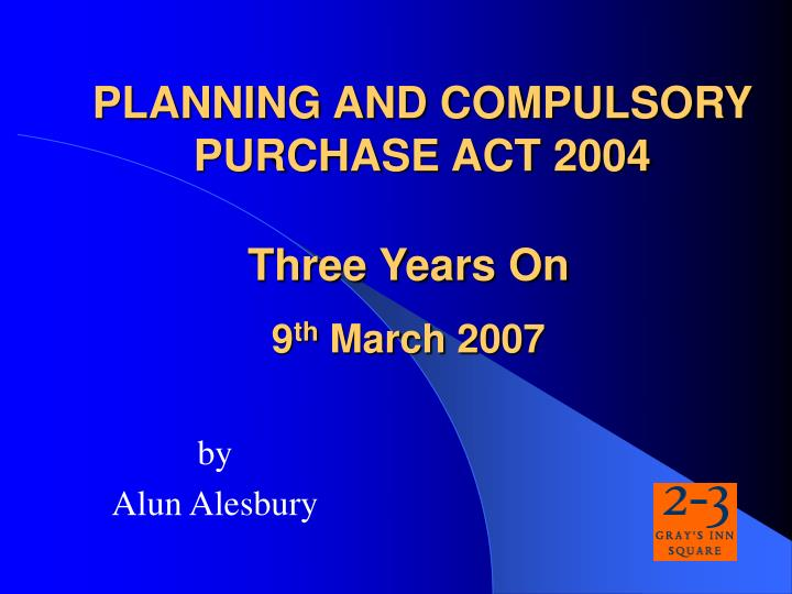 planning and compulsory purchase act 2004 n.