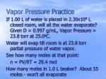 vapor pressure practice