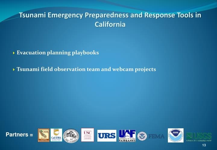 Tsunami Emergency Preparedness and Response Tools in California