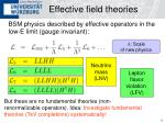 effective field theories