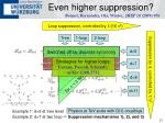 even higher suppression