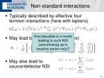 non standard interactions