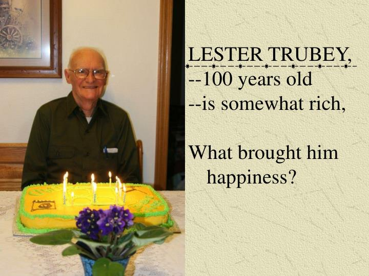 LESTER TRUBEY,