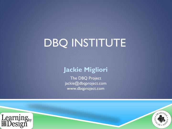 dbq institute n.