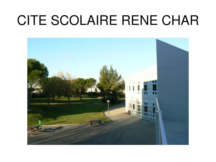 cite scolaire rene char n.
