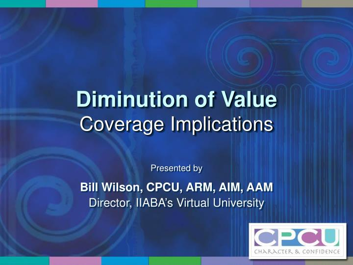 diminution of value coverage implications n.