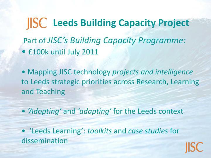 Leeds Building Capacity Project