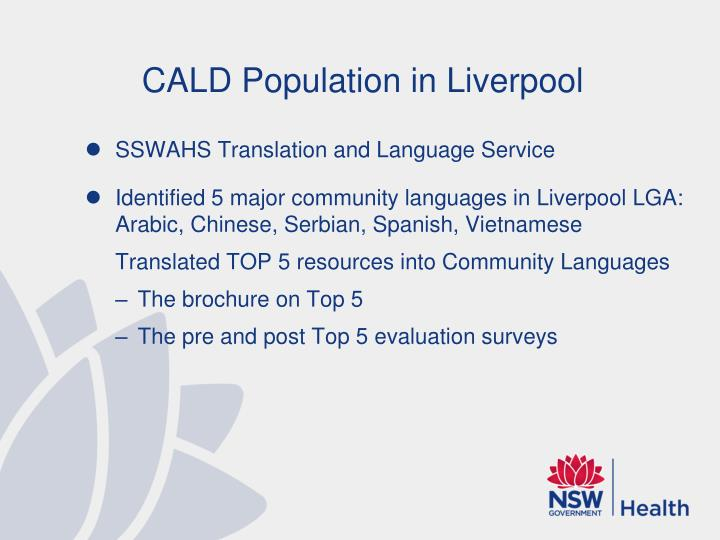 CALD Population in Liverpool