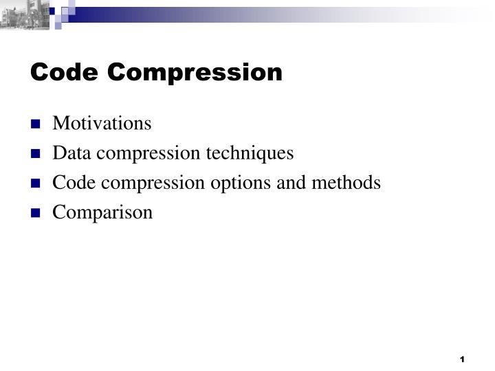 code compression n.