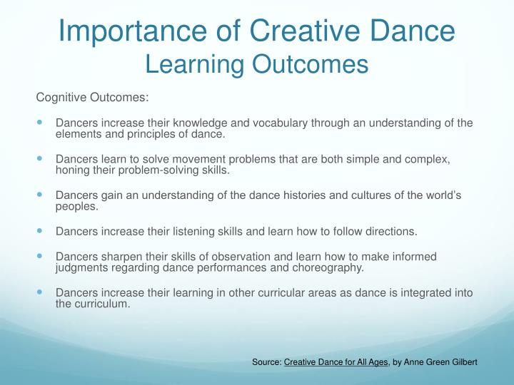 Importance of Creative Dance
