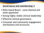 governance and membership 3