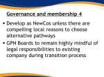 governance and membership 4
