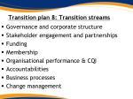transition plan 8 transition streams