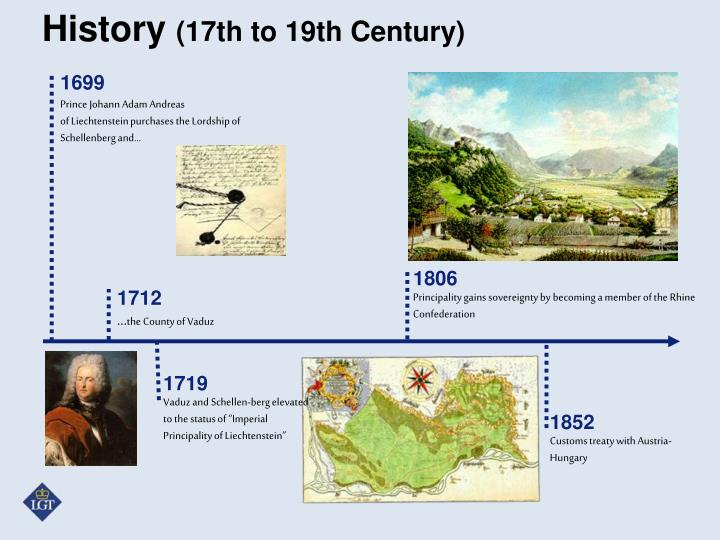History 17th to 19th century