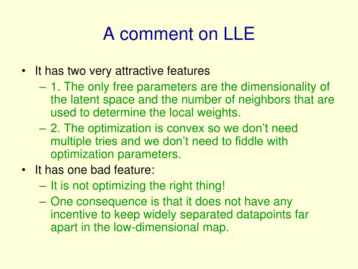 A comment on LLE