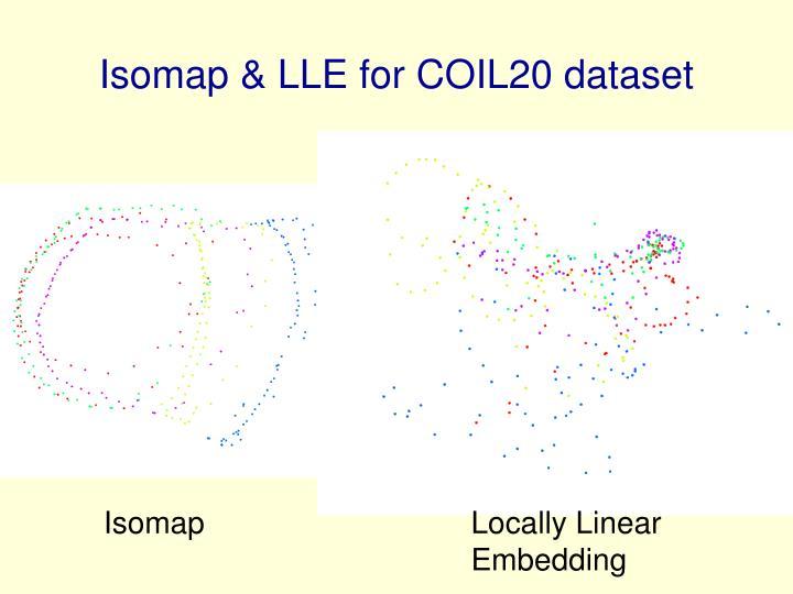 Isomap & LLE for COIL20 dataset
