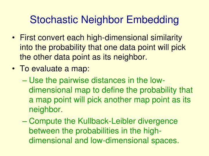 Stochastic Neighbor Embedding