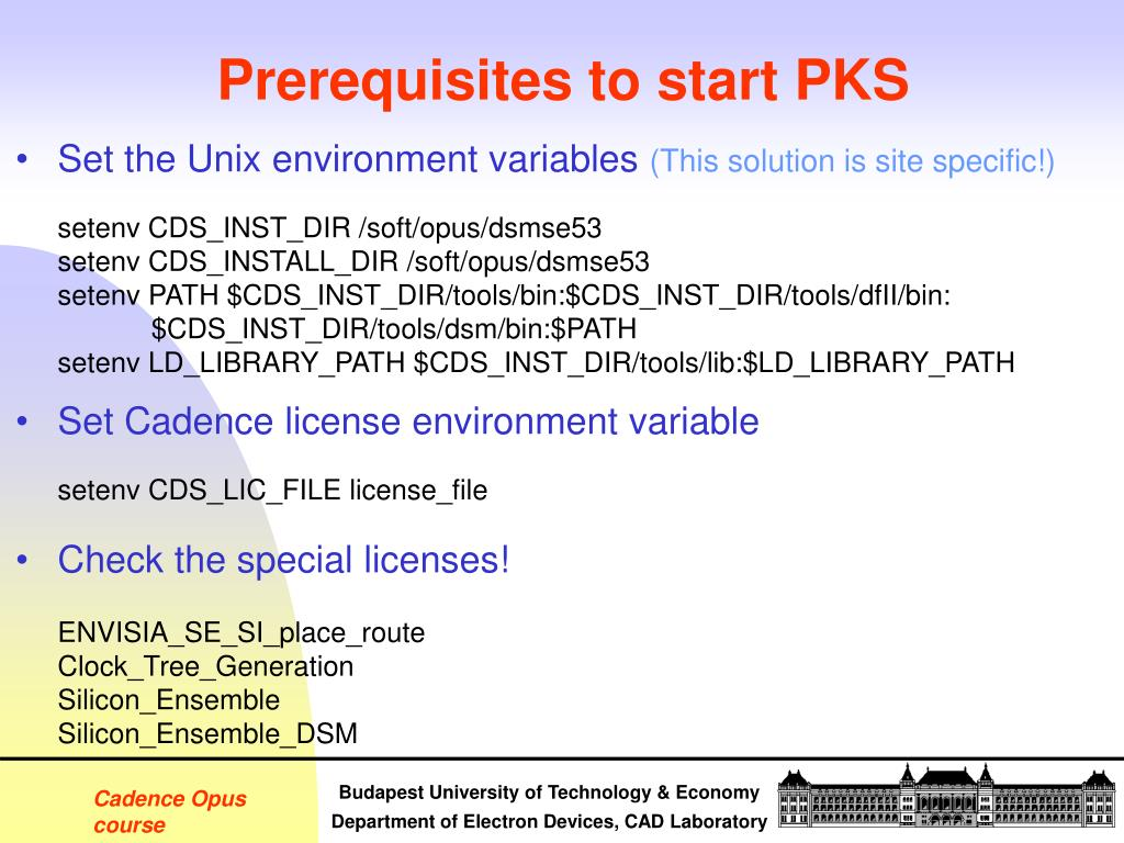 PPT - Introduction to Cadence Opus PowerPoint Presentation - ID:3329666