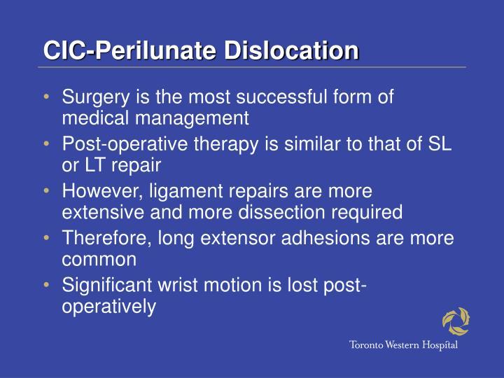 CIC-Perilunate Dislocation
