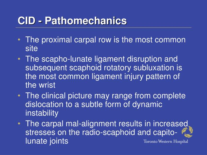 CID - Pathomechanics