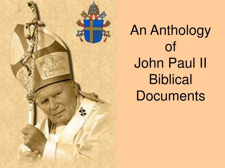 an anthology of john paul ii biblical documents n.